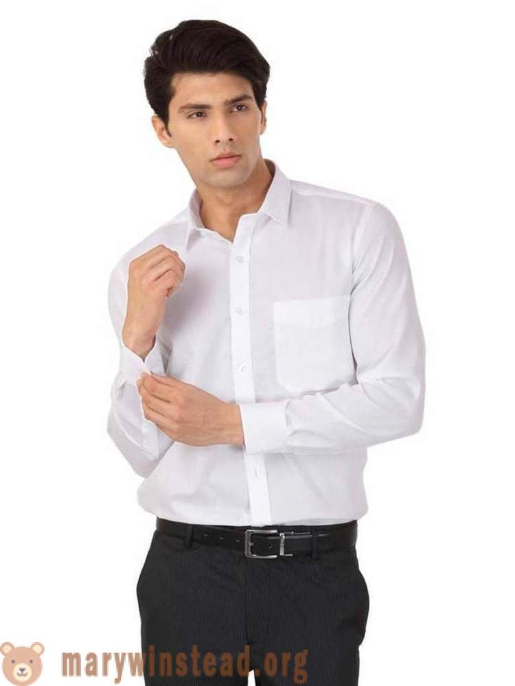 White men's shirts: photo models, stylist tips on forming sets fashion with white shirt