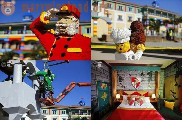 In California, built a hotel in Lego style