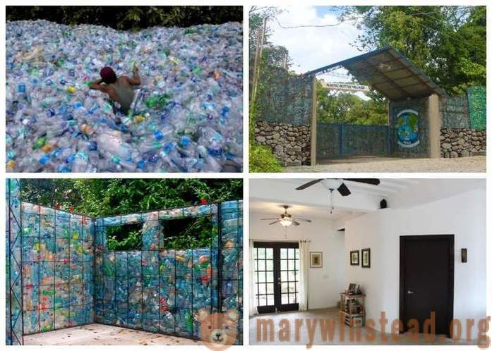 Resident of Canada from plastic bottles to build a village
