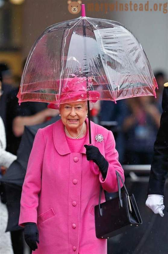 Why of Elizabeth II in the personal wardrobe of a lot of umbrellas