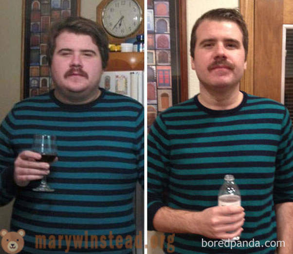 Before and after: how the appearance of the person who stops drinking