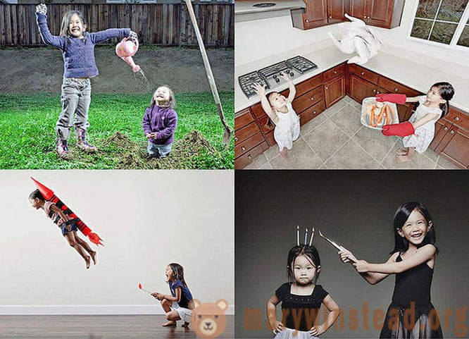 Creative dad makes very cool pictures of their daughters
